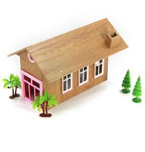Imagen de Casa para muñecas, de madera, con luz y sonido,con accesorios, 3AA, en caja