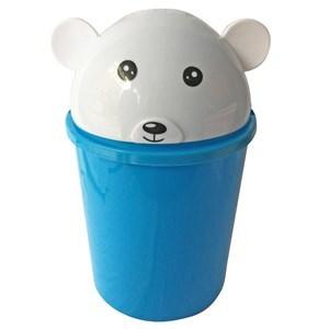 Imagen de Papelera de plástico, infantil, varios colores