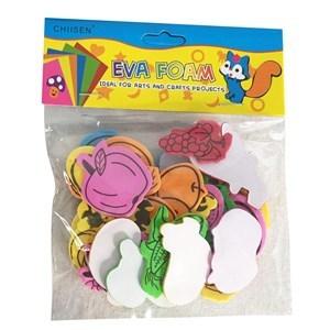 Imagen de Figuras de goma EVA con pegamento, en bolsa