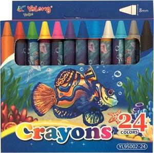 Imagen de Crayolas finas 24 colores, en caja, YALONG