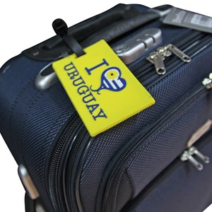 Imagen de Etiqueta de goma para identificación de valijas, PACK x12