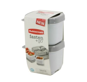 Imagen de Tupper de plástico RUBBERMAID  x2, ideal para colaciones, 75ml