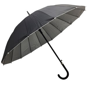 Imagen de Paraguas largo automático, negro, 16 varillas