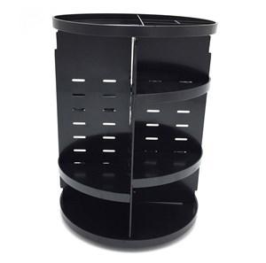 Imagen de Organizador de cosméticos giratorio, alturas ajustables, de plástico, en caja