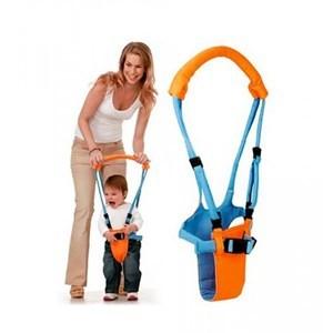 Imagen de Arnés de tela para bebé, para aprender a caminar, en caja.