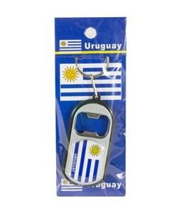 Imagen de Llavero destapador con linterna, diseño URUGUAY, pack x12