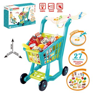 Imagen de Carrito de supermercado, con sonido, con accesorios, en caja