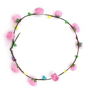 Imagen de Tiara con flores, pack x12, varios colores