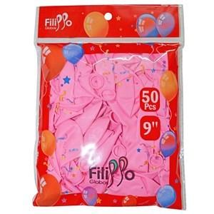 "Imagen de Globo 9"" FILIPPO rosado, bolsa x50"