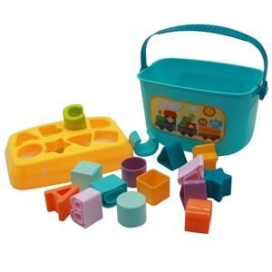 Imagen de Blocks 16 piezas, de encastre con valija, en caja