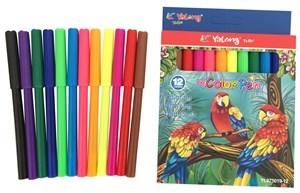 Imagen de Marcadores finos 12 colores, en caja, YALONG