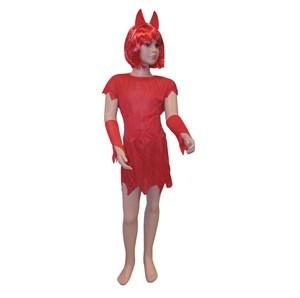 Imagen de Disfraz de diablita, vestido, faja y tiara, en bolsa