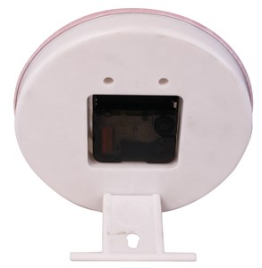 Imagen de Reloj 15.8cm personalizable, base de plástico con adaptador para colgar o apoyar