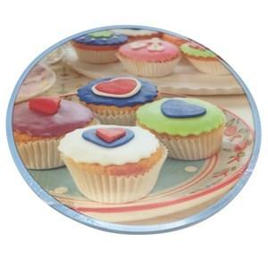 Imagen de Base giratoria de plástico, 35cm, para presentar o decorar tortas, varios diseños