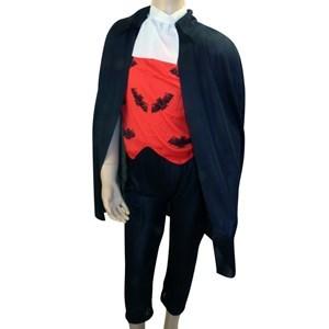 Imagen de Disfraz de vampiro, pantalón, capa y cuello, en bolsa