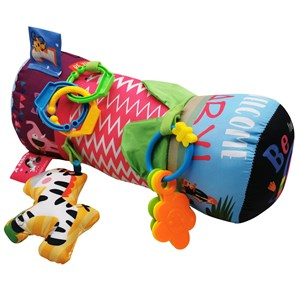 Imagen de Almohadón para bebé, didáctico, con 3 sonajeros, en bolsa