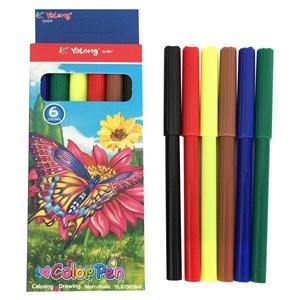 Imagen de Marcadores finos 6 colores, en caja, YALONG