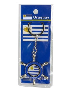Imagen de Llavero de metal timón Uruguay, pack x12