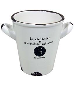 Imagen de Balde de loza, caja x6, ideal para arreglos florales, souvenirs