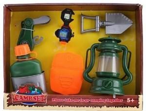 Imagen de Set de camping, 6 piezas, farol con luz, en caja