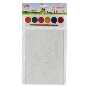 Imagen de Láminas para colorear x4, con acuarelas, en bolsa.