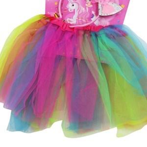 Imagen de Pollera con tiara de unicornio, en bolsa