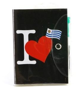 Imagen de Libreta con lapicera, diseño URUGUAY, PACK x12