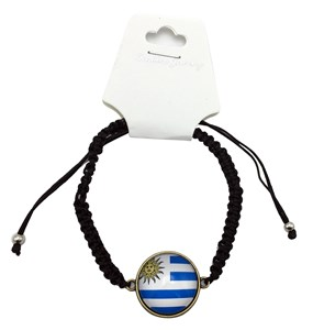 Imagen de Pulsera ajustable diseño Uruguay, pack x12