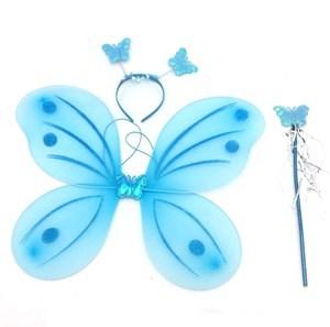 Imagen de Disfraz alitas de mariposa, con tiara y varita, en bolsa, varios colores