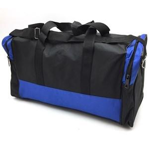Imagen de Bolso deportivo, tela impermeable, 2 bolsillos laterales, asas cortas y asa larga
