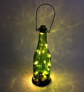 Imagen de Lámpara, botella con 10 luces led, 3AA, en caja, varios colores