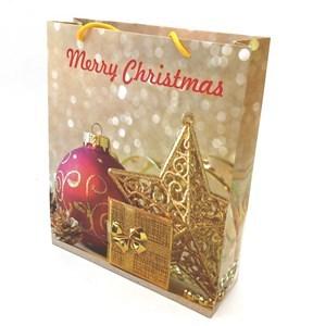 Imagen de Bolsa de regalo grande,en papel satinado, PACK x12, diseños navideños