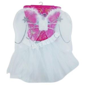 Imagen de Pollera y alas de angelito, color blanco, en bolsa