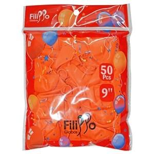 """Imagen de Globo 9"""" FILIPPO anaranjado, bolsa x50"""