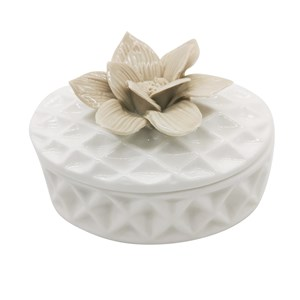 Imagen de Alhajero de cerámica con flor, en caja