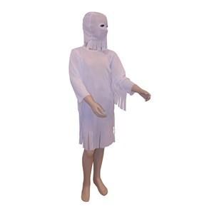 Imagen de Disfraz de fantasma, vestido con flecos y capucha, en bolsa