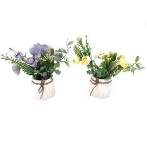 Imagen de Planta con flores hortensias y marimoñas, varios colores