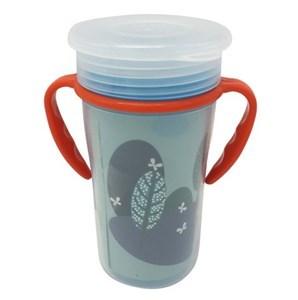 Imagen de Vaso infantil, 360, con doble asa y tapa, antiderrame para aprendizaje, varios colores