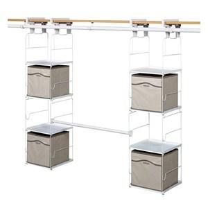 Imagen de Organizador RUBBERMAID, para placard, barra para perchas, estructura para estantes y cajas plegables