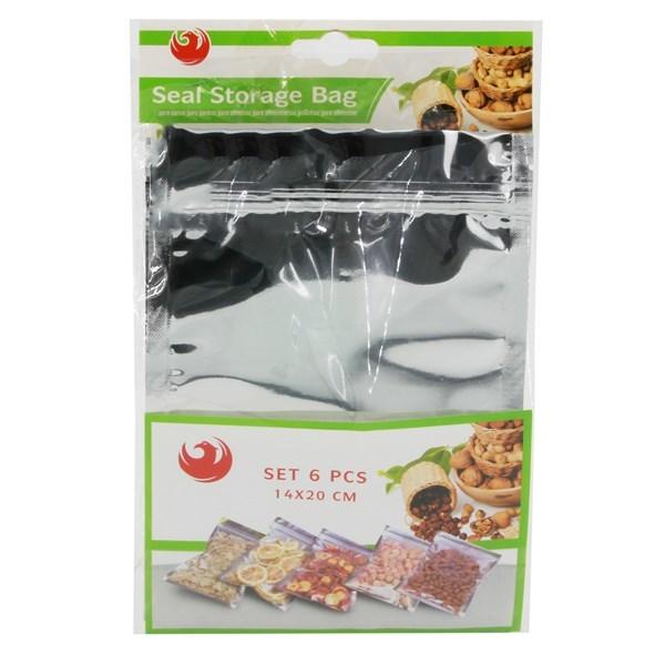 Imagen de Bolsas para alimentos, x6, con cierre hermético