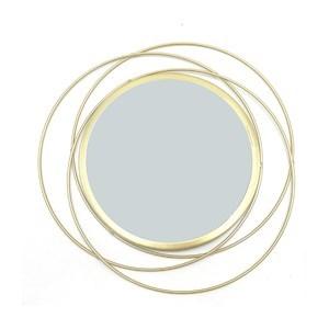 Imagen de Espejo decorativo 25cm, marco de metal diámetro 35cm, en caja