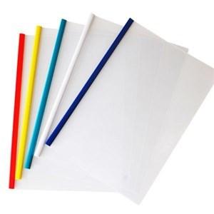 Imagen de Carpeta A4 de PVC con barra sujetadora de plástico, PACK x10