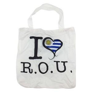 Imagen de Bolso plegable de poliéster, diseño URUGUAY